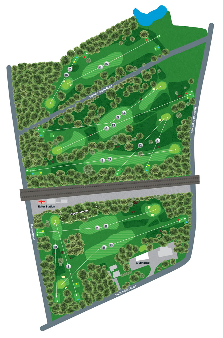 Course Holes Diagram